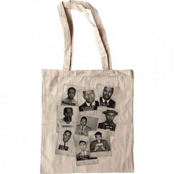 Civil Rights Heroes Mugshots Tote Bag