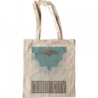Cloud City Travel Poster Tote Bag