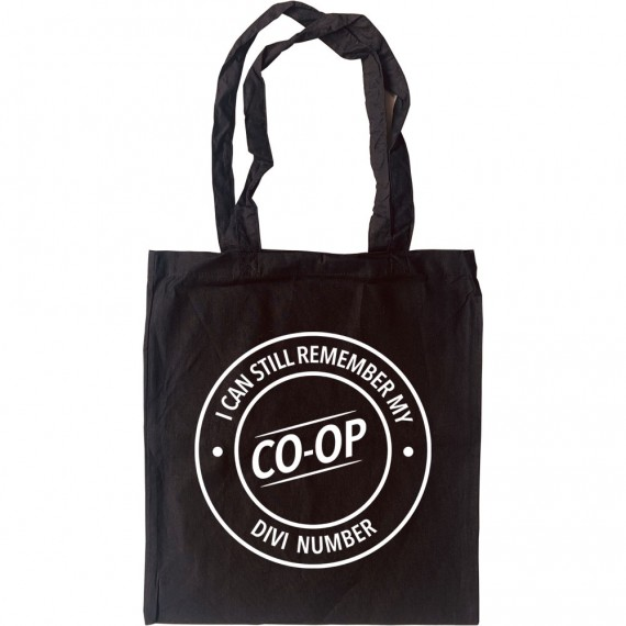 I Can Still Remember My Co-Op Divi Number Tote Bag