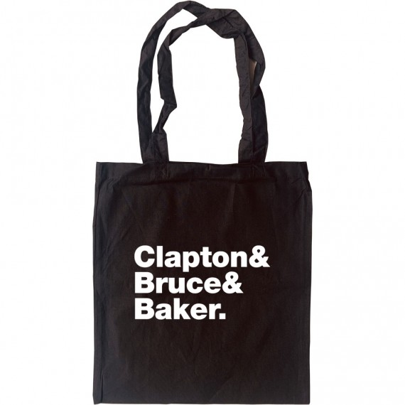 Cream Line-Up Tote Bag
