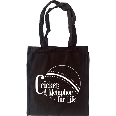 Cricket: A Metaphor For Life Tote Bag