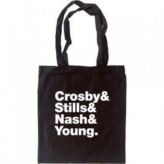 Crosby, Stills, Nash and Young Line-Up Tote Bag