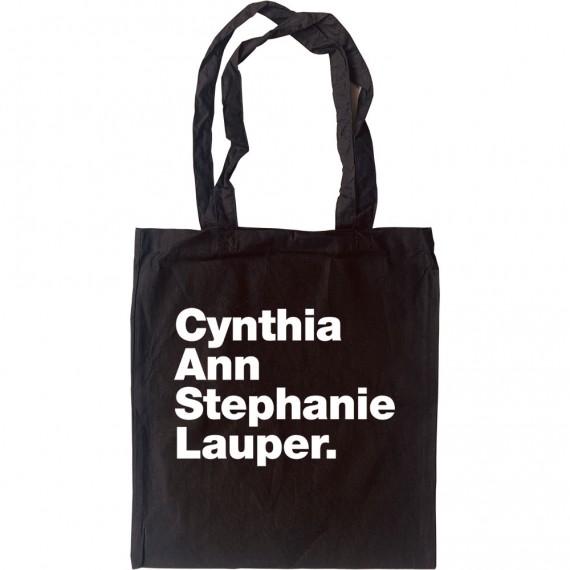 Cynthia Ann Stephanie Lauper Tote Bag