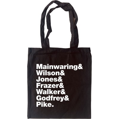 Dad's Army Line-Up Tote Bag