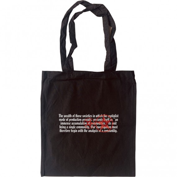 Das Kapital Opening Lines Tote Bag