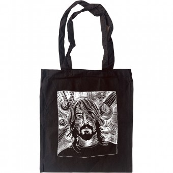 Dave Grohl Woodcut Tote Bag
