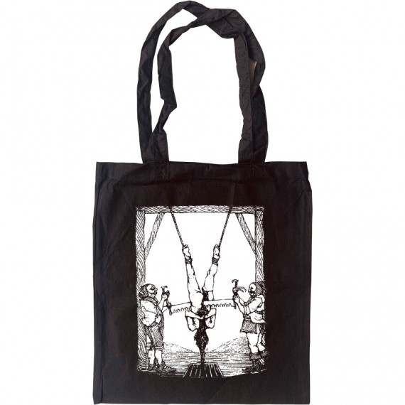 Death By Sawing Tote Bag