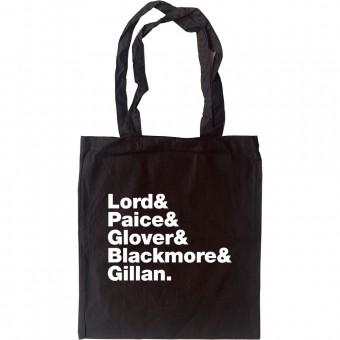 Deep Purple Line-Up Tote Bag