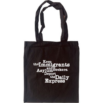 Deport The Daily Express Tote Bag
