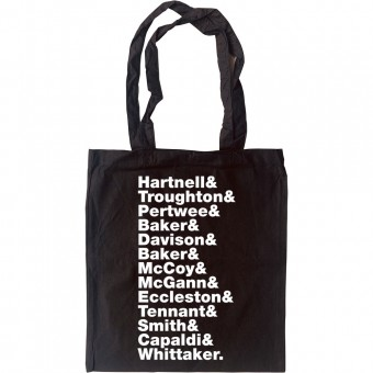 Doctor Who (Doctors) Line-Up Tote Bag