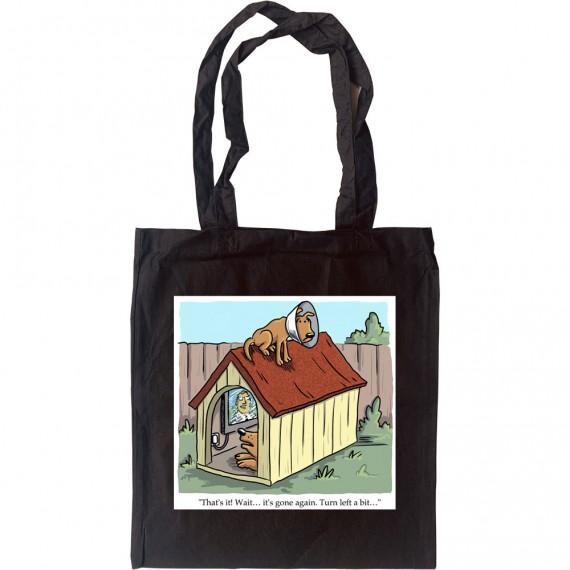 Dog Satellite Dish Tote Bag