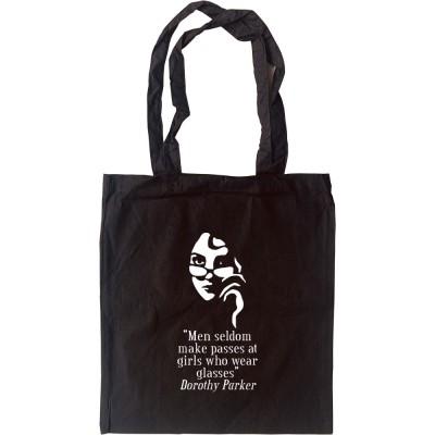 """Dorothy Parker """"Girls Who Wear Glasses"""" Tote Bag"""