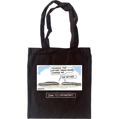 Down To Earthworms Tote Bag