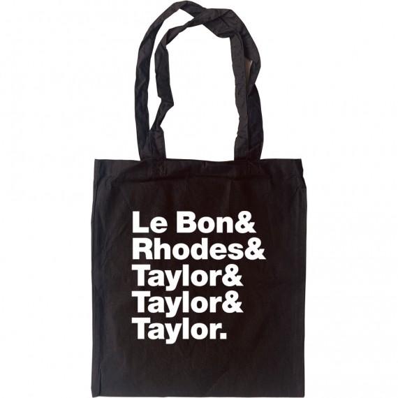 Duran Duran Line-Up Tote Bag