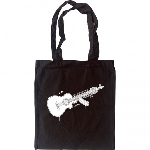 """Bob Dylan """"Peace"""" Quote Tote Bag"""