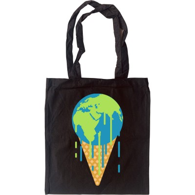 Earth is Melting Tote Bag