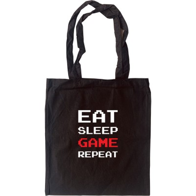 Eat, Sleep, Game, Repeat Tote Bag