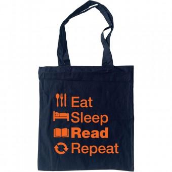 Eat Sleep Read Repeat Tote Bag