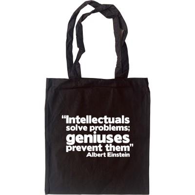 """Albert Einstein """"Genius"""" Quote Tote Bag"""