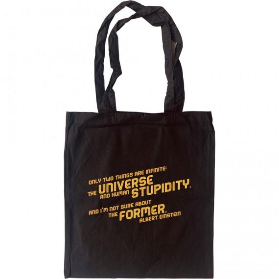 "Albert Einstein ""Stupidity"" Quote Tote Bag"