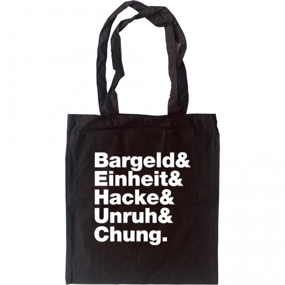 Einsturzende Neubauten Line-Up Tote Bag