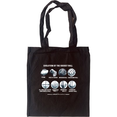 Evolution Of The Cricket Ball Tote Bag
