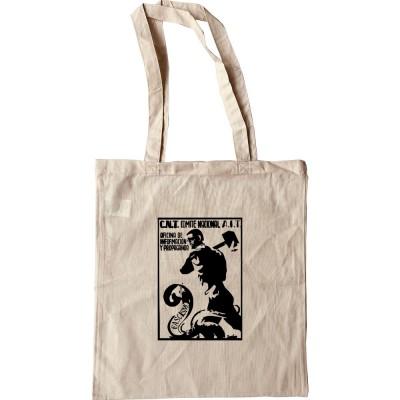Fascist Snake Spanish Civil War Poster Tote Bag