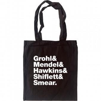 Foo Fighters Line-Up Tote Bag