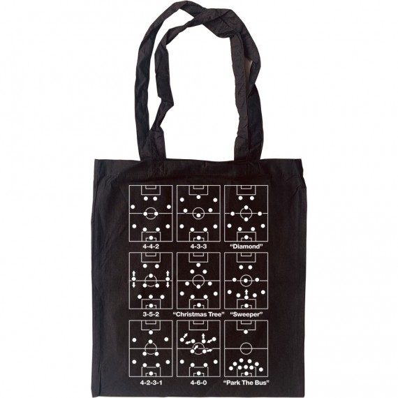 Football Formations Tote Bag