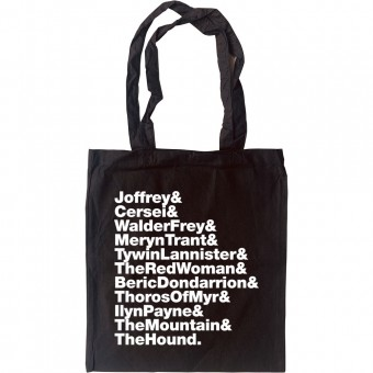 Arya's kill list (Game of Thrones) Line-Up Tote Bag