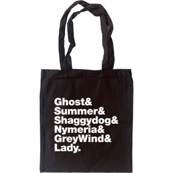 Direwolf (Game of Thrones) line-up Tote Bag