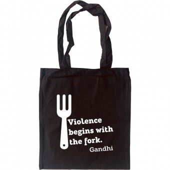 "Gandhi ""Violence"" Quote Tote Bag"