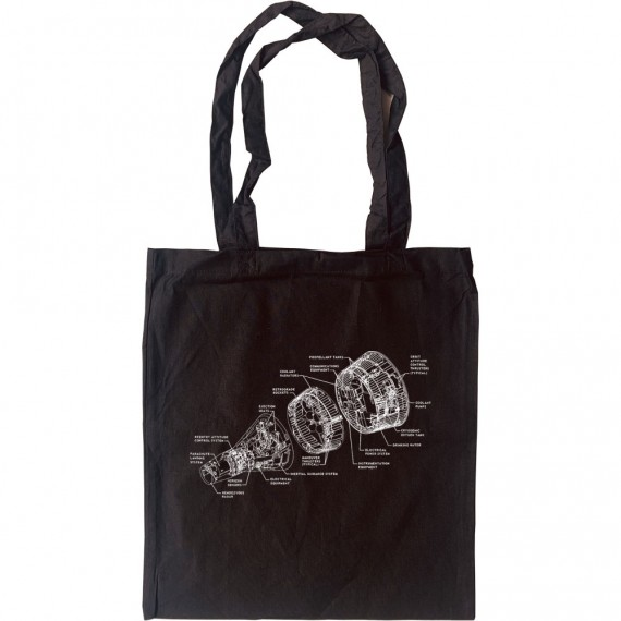Gemini Spacecraft Diagram Tote Bag