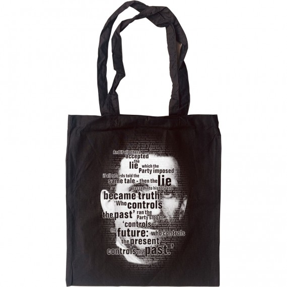 """George Orwell """"Who Controls the Past"""" Tote Bag"""