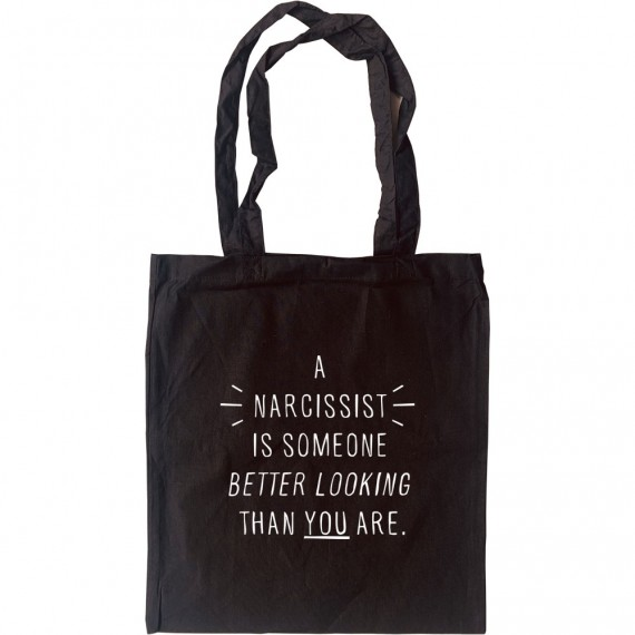 "Gore Vidal ""Narcissist"" Quote Tote Bag"