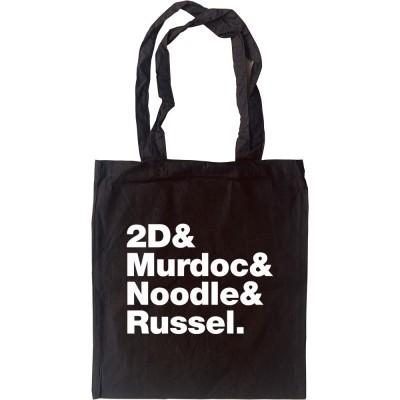 Gorillaz Line-Up Tote Bag