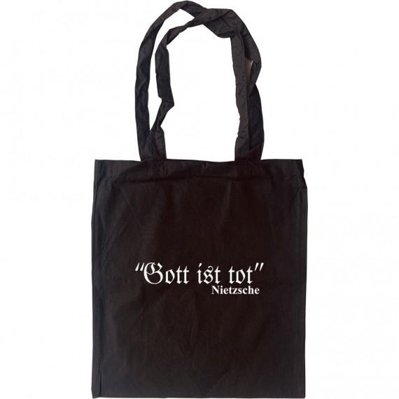 Friedrich Nietzsche Gott Ist Tot Tote Bag