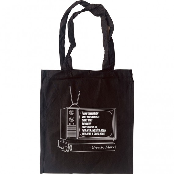 """Groucho Marx """"Television"""" Quote Tote Bag"""
