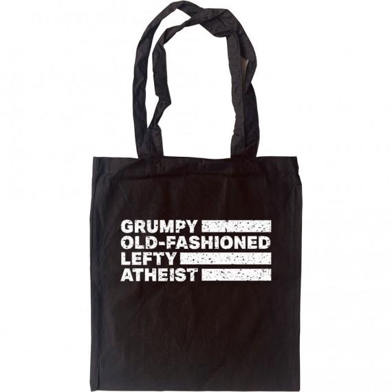 Grumpy Old-Fashioned Lefty Atheist Tote Bag