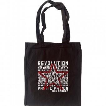 "Guy Debord ""Revolution"" Quote Tote Bag"