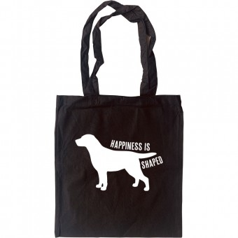 Happiness is Dog Shaped Tote Bag