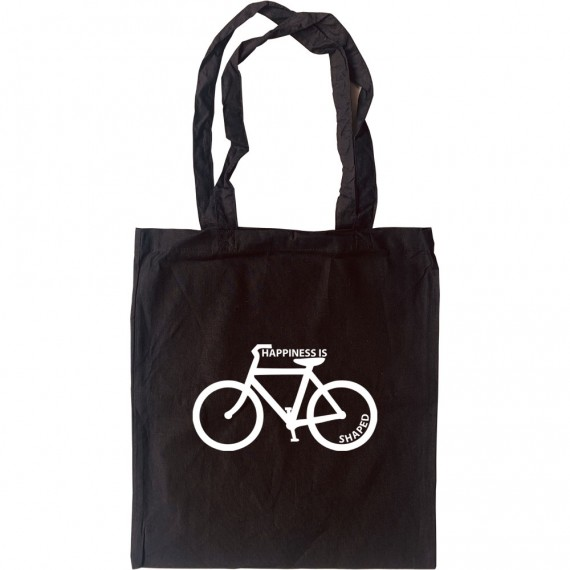 Happiness is Bicycle Shaped Tote Bag
