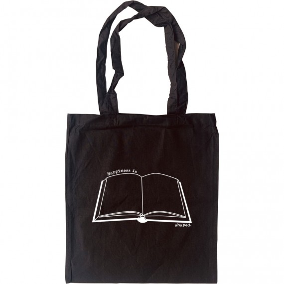 Happiness is Book Shaped Tote Bag