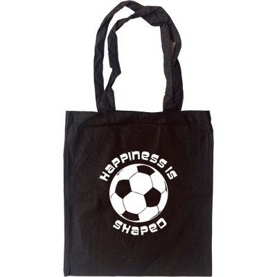 Happiness is Football Shaped Tote Bag