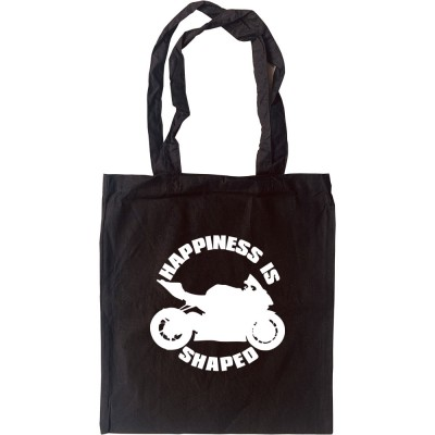 Happiness is Motorbike Shaped Tote Bag