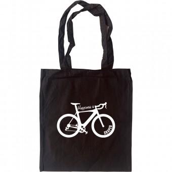 Happiness Is Racing Bike Shaped Tote Bag