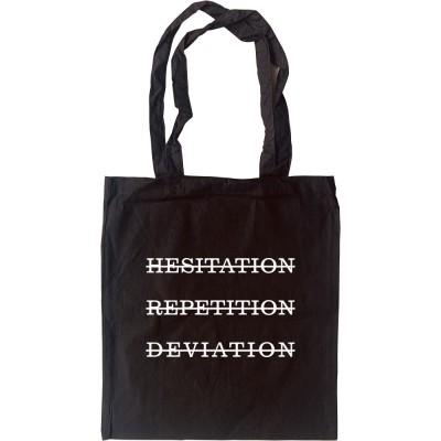 Hesitation, Repetition, Deviation Tote Bag