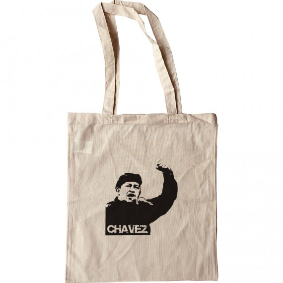 Hugo Chavez: Black Print Tote Bag