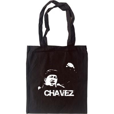 Hugo Chavez: White Print Tote Bag