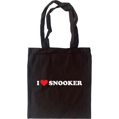 I Love Snooker Tote Bag